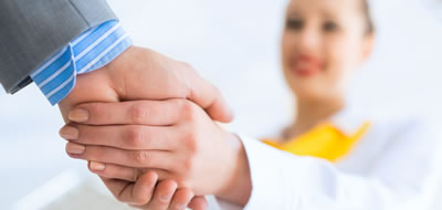 Corporate Consultant shaking hands